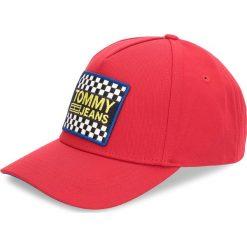 Czapka z daszkiem TOMMY JEANS - Tjm Logo Patch Cap AM0AM03265 614. Czerwone czapki z daszkiem męskie Tommy Jeans, z bawełny. W wyprzedaży za 159,00 zł.