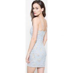Missguided - Sukienka. Szare sukienki mini marki Missguided, na co dzień, z poliesteru, casualowe, dopasowane. W wyprzedaży za 79,90 zł.