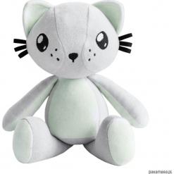 Kot przytulanka - Poofy Cat PLUSHEE szaro-miętow. Szare przytulanki i maskotki Pakamera, z bawełny. Za 129,00 zł.