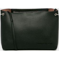 Calvin Klein - Torebka. Czarne torebki klasyczne damskie marki Calvin Klein, z materiału, duże. Za 539,90 zł.