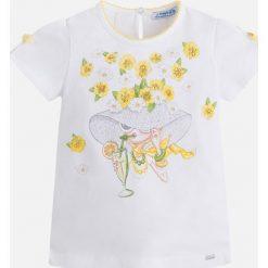 Mayoral - Top dziecięcy 92-134 cm. Szare bluzki dziewczęce Mayoral, z nadrukiem, z bawełny, z okrągłym kołnierzem, z krótkim rękawem. Za 74,90 zł.