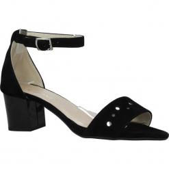 Czarne sandały z paskiem wokół kostki na niskim obcasie Casu 1973. Czarne sandały damskie marki Casu, na niskim obcasie. Za 89,99 zł.