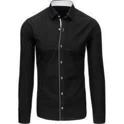 Koszule męskie na spinki: Koszula męska czarna (dx1419)