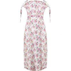 Marella FIABA Długa sukienka white. Białe długie sukienki Marella, z materiału, wizytowe, z długim rękawem. W wyprzedaży za 1039,20 zł.
