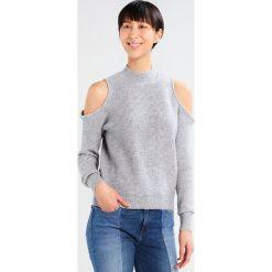 Swetry damskie: Vila VIHEIDA COLDSHOULDER Sweter light grey melange