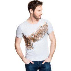T-shirt STEFANO TSPR000025. Niebieskie t-shirty męskie marki Giacomo Conti, m, z tkaniny, klasyczne. Za 79,00 zł.