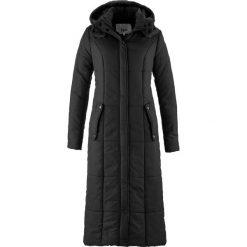Lekki, długi płaszcz pikowany bonprix czarny. Czarne płaszcze damskie bonprix. Za 229,99 zł.