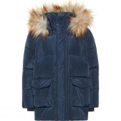 """Kurtka puchowa """"Markos"""" w kolorze granatowym. Niebieskie kurtki chłopięce marki Name it Mini & Kids, z puchu. W wyprzedaży za 135,95 zł."""