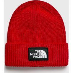 The North Face - Czapka. Czerwone czapki zimowe męskie marki The North Face, na zimę, z dzianiny. W wyprzedaży za 99,90 zł.