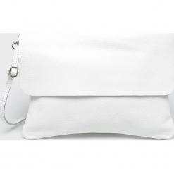 Answear - Torebka skórzana. Szare torebki klasyczne damskie ANSWEAR, w paski, z materiału, średnie. Za 199,90 zł.