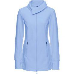 Bluzy damskie: Bluza rozpinana z polaru bonprix perłowy niebieski