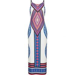 Sukienka letnia bonprix biały. Białe sukienki letnie marki bonprix, z nadrukiem. Za 69,99 zł.