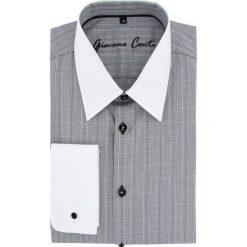 Koszula MARCO 15-08-23-K. Białe koszule męskie na spinki marki bonprix, z klasycznym kołnierzykiem. Za 229,00 zł.
