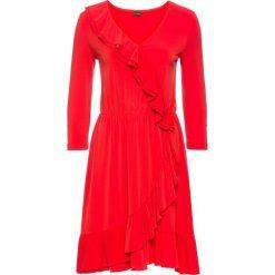 Sukienki: Sukienka z założeniem kopertowym bonprix truskawkowy
