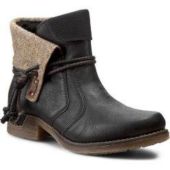 Botki RIEKER - 79693-00 Black Combination. Czarne buty zimowe damskie marki Rieker, z materiału. W wyprzedaży za 209,00 zł.