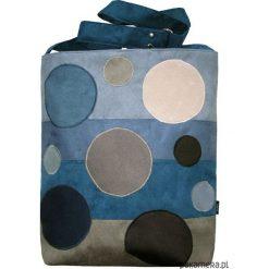 Torebki klasyczne damskie: Bąbelki Niebiesko Szare