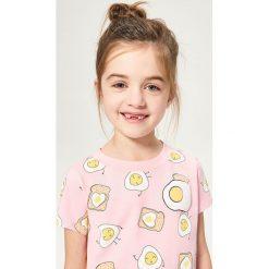 Bluzki dziewczęce: Koszulka we wzory – Różowy