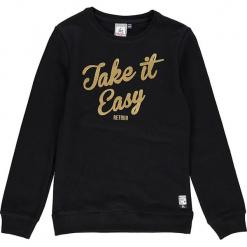 Bluza w kolorze czarnym. Czarne bluzy dziewczęce z nadrukiem marki Retour Denim de Luxe, z bawełny. W wyprzedaży za 105,95 zł.