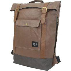 Plecaki męskie: Plecak w kolorze jasnobrązowym – 37 x 45 x 11 cm