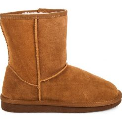 Skórzane śniegowce damskie ALISSA. Brązowe buty zimowe damskie Coco Perla. Za 129,00 zł.