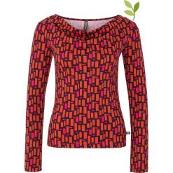 """Bluzki asymetryczne: Koszulka """"Jade"""" w kolorze fioletowo-czerwonym"""