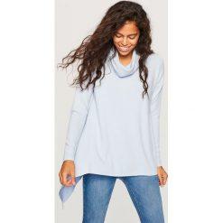 Sweter z szeroką stójką - Niebieski. Niebieskie swetry klasyczne damskie marki Reserved, l. Za 79,99 zł.
