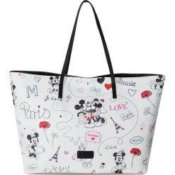 "Shopper bag damskie: Shopper bag ""Disney"" w kolorze białym – 55 x 34 x 18 cm"