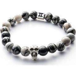 Bransoletki damskie: Bransoletka Gemini Classic Skull Grey C4-G
