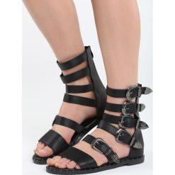 Czarne Sandały Healing. Czarne sandały damskie marki Born2be, z materiału, na obcasie. Za 109,99 zł.
