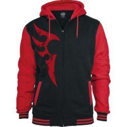 Red Smoky Tribal Bluza z kapturem rozpinana czarny/czerwony. Czerwone bluzy męskie rozpinane marki KALENJI, m, z elastanu, z długim rękawem, długie. Za 284,90 zł.