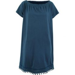 "Sukienki hiszpanki: Sukienka shirtowa z dekoltem ""carmen"" bonprix ciemnoniebieski"