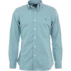 Polo Ralph Lauren POPLIN Koszula evergreen. Szare koszule męskie marki Polo Ralph Lauren, l, z bawełny, button down, z długim rękawem. Za 459,00 zł.