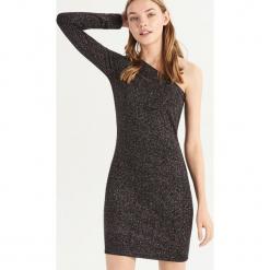 Dopasowana sukienka mini - Wielobarwn. Szare sukienki mini marki Sinsay, l, dopasowane. Za 59,99 zł.