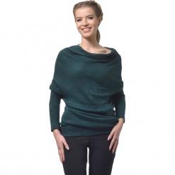 Tunika w kolorze ciemnozielonym. Zielone tuniki damskie z długim rękawem Lila Kass, xxs, z dekoltem w łódkę. W wyprzedaży za 189,95 zł.
