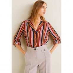 Mango - Koszula Gelatto2. Szare koszule damskie marki Mango, l, w paski, z poliesteru, z długim rękawem. Za 139,90 zł.