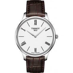PROMOCJA ZEGAREK TISSOT T-Classic T063.409.16.018.00. Białe zegarki męskie TISSOT, ze stali. W wyprzedaży za 1188,00 zł.