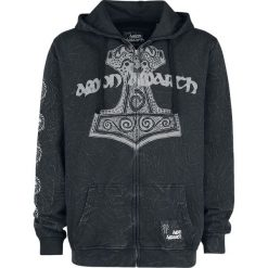 Bluzy męskie: Amon Amarth EMP Signature Collection Bluza z kapturem rozpinana ciemnoszary