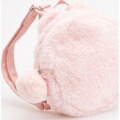 Torebki i plecaki damskie: Futrzasty plecak – Różowy