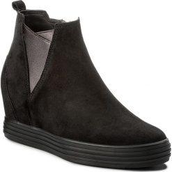 Botki GABOR - 72.671.47 Schwarz. Czarne buty zimowe damskie Gabor, z materiału, na obcasie. W wyprzedaży za 359,00 zł.