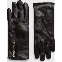 Vero Moda - Rękawiczki skórzane. Czerwone rękawiczki damskie Vero Moda, z materiału. Za 169,90 zł.