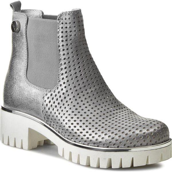 Sztyblety CARINII - B3392/PB Dave Met 6729/0101. Szare buty zimowe damskie Carinii, z materiału, na obcasie. W wyprzedaży za 199,00 zł.