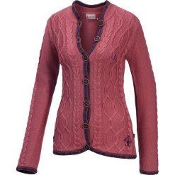 Kardigany damskie: Sweter rozpinany w kolorze różowym