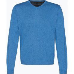 Finshley & Harding - Sweter męski z dodatkiem kaszmiru, niebieski. Czarne swetry klasyczne męskie marki Finshley & Harding, w kratkę. Za 229,95 zł.