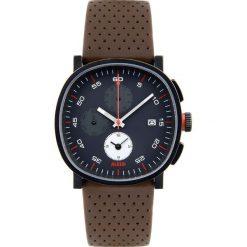Zegarki męskie: Zegarek męski Tic15 skórzany pasek brąz chronograf