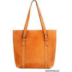 Torebki i plecaki damskie: Skórzana CAMEL duża torebka damska