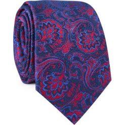 Krawat jedwabny KWWR000321. Niebieskie krawaty męskie Giacomo Conti, z jedwabiu. Za 129,00 zł.