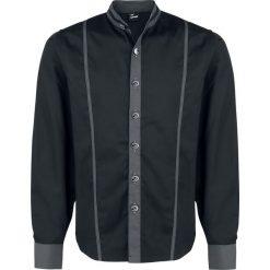 Koszule męskie na spinki: Banned Contrast Shirt With Button Fastening Koszula czarny
