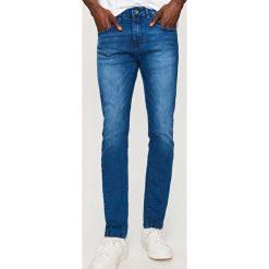 Rurki męskie: Denimowe spodnie slim fit – Granatowy
