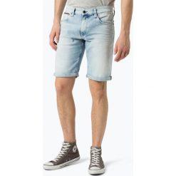 Tommy Jeans - Męskie spodenki jeansowe – Ronnie, niebieski. Niebieskie spodenki jeansowe męskie marki Tommy Jeans, casualowe. Za 349,95 zł.