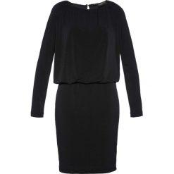 Długie sukienki: Sukienka shirtowa modelująca sylwetkę Premium bonprix czarny